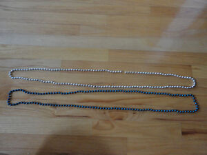 Brand new set of 2 blue and silver beaded necklace London Ontario image 2