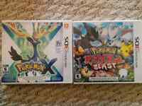 Pokemon X & Pokemon Rumble Blast for the 3DS