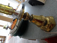 BRASS LAMP,  smaller,good end table size, nice