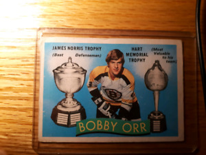 Bobby Orr card Norris and Hart Trophies