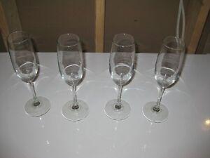 Champagne Glasses - Set of 4 - $5.00 obo Kitchener / Waterloo Kitchener Area image 1