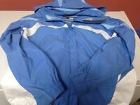 Like new size large womans columbia jacket with hood!!