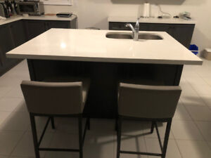 New Quartz Kitchen Island Counter top
