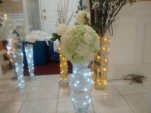 large glass vases with ribbon lights Cambridge Kitchener Area image 8