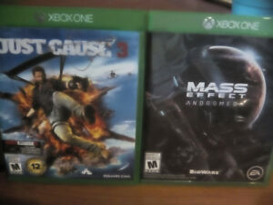 Mass Effect Andromeda & Just Cause 3 XBox One