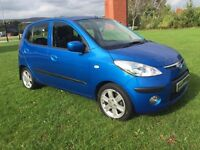 O8 hyundai i10 style WARRANTY & FINANCE FULL MOT SUPER SPECnot yaris, 107, alto,ds3, corsa