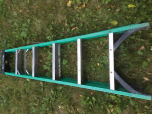 6' used fiberglass step ladder-needs small repair to spreader