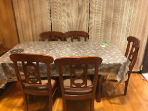 Teak wood Dining Table with 6 chairs