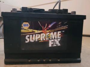 Original car battery - NAPA SUPEREME FX