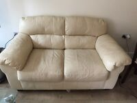Urgent Sale: ( Leather 2 Seater + 1 Seater Arm Chair)