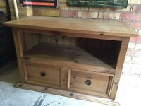 Solid pine TV unit