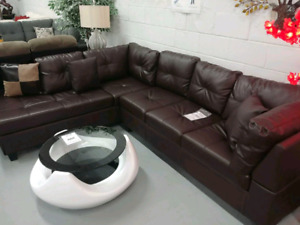 BRAND NEW! Bonded Leather Sofa Sectional