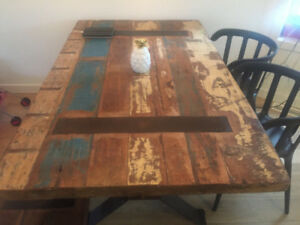 Rustic table - includes bench and chairs
