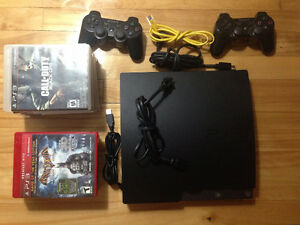 ps3 with 2 controllers + 12 games for additional price