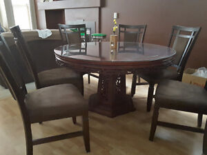 Ornate Glass Top Dining Table