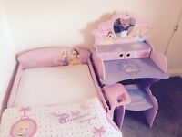 Disney bed/curtains/duvet cover/pillowcase/curtains/dressing table/stool/lamp
