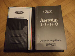 GUIDE DU PROPRIETAIRE FORD AEROSTAR 1990 OWNER'S MANUEL