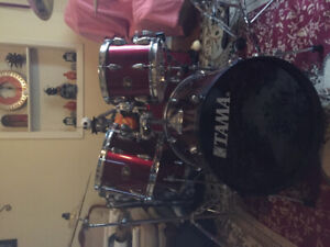 5 piece Tama Imperialstar with cymbals