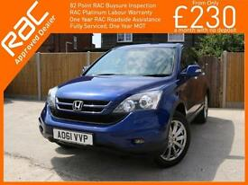 2011 Honda CR-V 2.0 i-VTEC ES Auto 4x4 4WD Bluetooth Full Leather/Suede Heated S