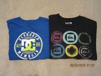 Boys/Teen t-shirts (DC and Quiksilver)