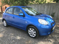 2011 61 NISSAN MICRA ACENTA 1.2 5 DOOR BLUE **ONLY47,000 MILES**