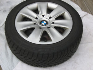 Winter Tires Dunlop 205 / 55 R16 91H on Rims BMW