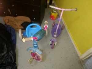 Trike and small scooter