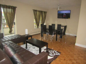 FALL SPECIAL !!!! DELUXE 2 BEDROOM FURNISHED APARTMENT, NO LEASE