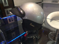 Genuine Vespa Scooter Helmets in Silver - Small and Large