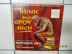"""Vintage Napoleon Hill """"Think and Grow Rich"""" Lp Circa 1960"""