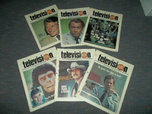 Old 70's Sun tv guides magazines