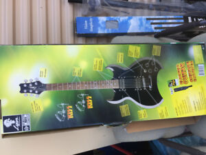 Lighting Effects, Kiss Guitar w/Tour Jacket for sale