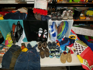Baby clothes, Shoes, winter jackets, toys and more