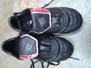 Size 2 Girl's Soccer Shoes