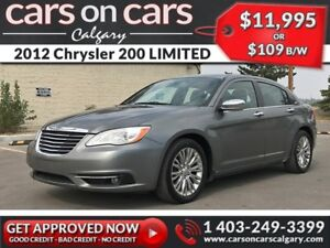 2012 Chrysler 200 LIMITED w/Leather, Sunroof $109 B/W INSTANT AP