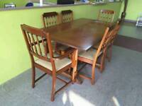 SPECIAL OFFER!! Extendable Dining Table & 6 Chairs - Can Deliver For £19