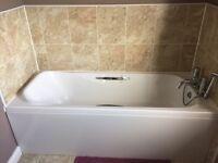 White bath and panel