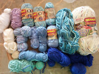 Bag full of cotton yarn, different colors