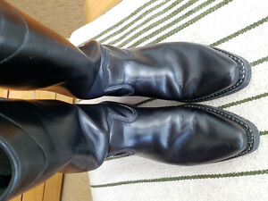 Men's Dayton Black Beauty Biker/Western Boots