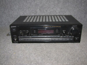 Sony Receiver, Fisher Surround Amp, & Tower Speakers.
