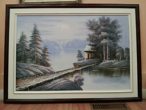 Original painting, oil on canvas and professionally framed
