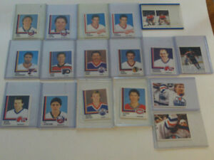 LOT DE 18 STICKERS DE HOCKEY PANINI 1987