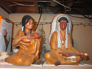 HAND MADE CERAMIC / CLAY INDIAN ART SCULPTURES