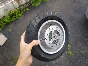 Never used Pocket Bike tire + parts