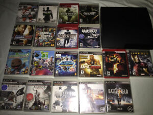 PlayStation 3 along with 19 games