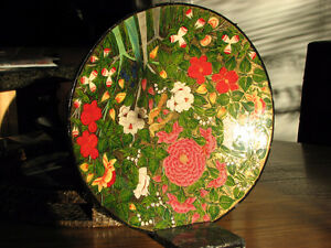 Beautiful Kashmir Wooden Lacquered Plate