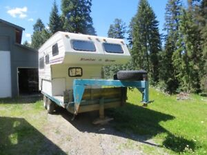 Camper mounted on trailer