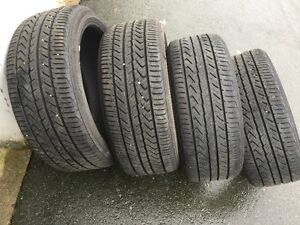 set of yokohama Advan Sport A/S 225/40/19 tires in great shape