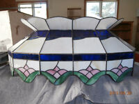Light Fixture Custom Made Stained Glass