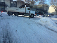 DUMP TRUCK Available to Haul Your Snow Away